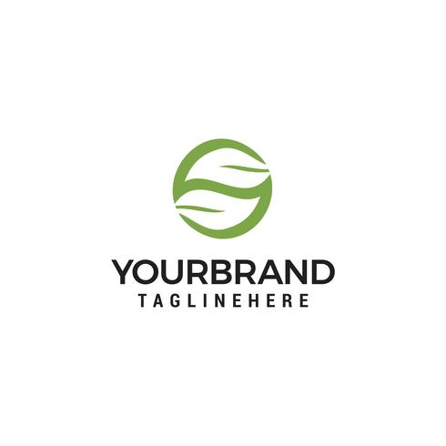 elemento de diseño de logotipo de la hoja letra S vector