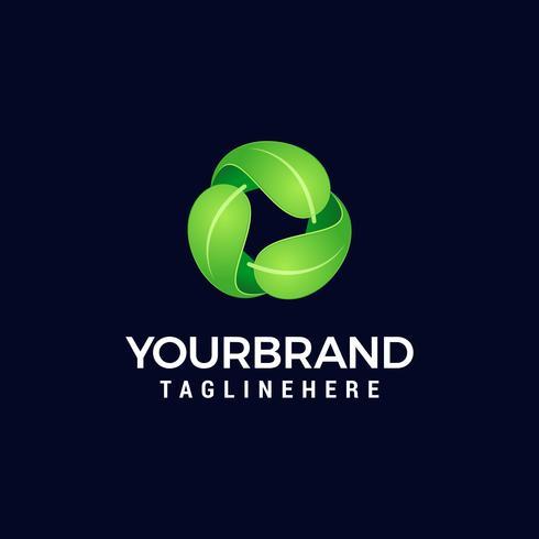 Recycling-Symbol, Ökologie grüne Symbole auf weißem Hintergrund