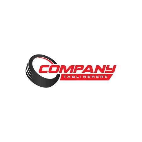 Diseño de logotipo de tienda de neumáticos