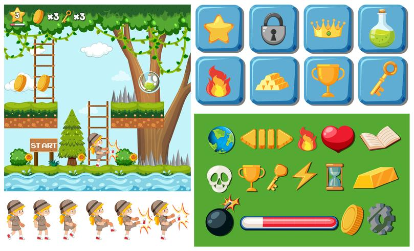 Game with object template vector