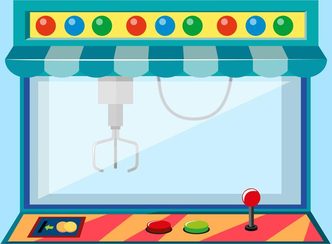 A coin operated game machine vector