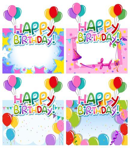 Set of birthday frame