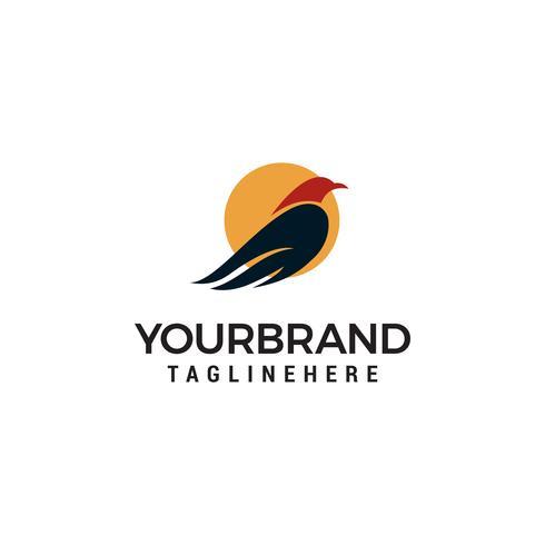 Vogelsonne Logo Vorlage Vektor