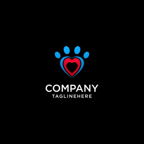 Icona astratta della famiglia. Insieme simbolo d'amore. Logo vettoriale