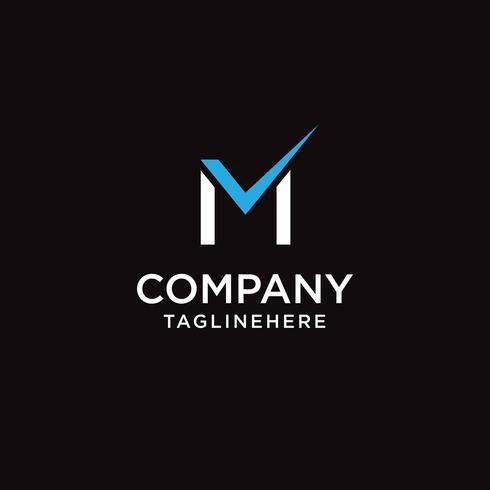 Elementos de plantilla de diseño de letra M marca logo icono diseño vector