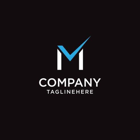 Letter M check mark logo icon design template elements vector