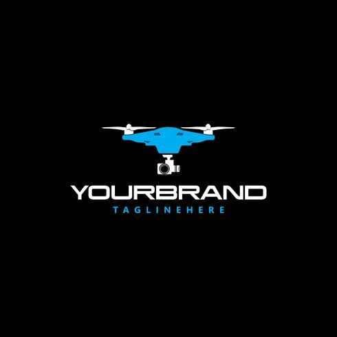 Logotipo de fotografia do céu Drone vetor
