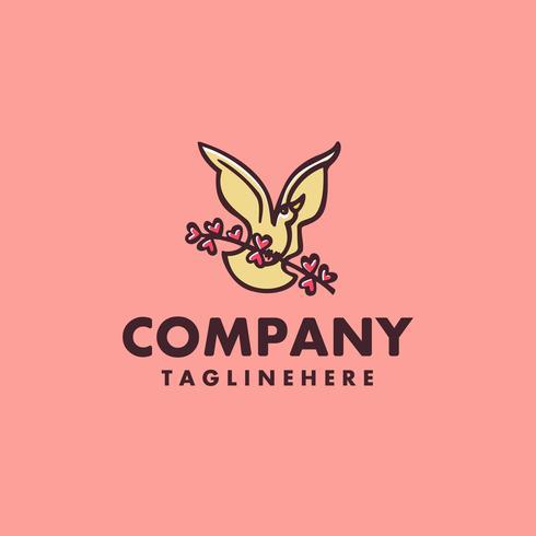 bird handrawn logo concept design vector