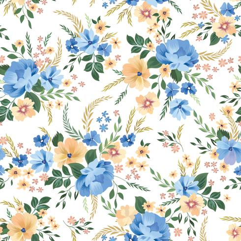 Floral seamless pattern. Flower background. Ornamental garden flowers vector