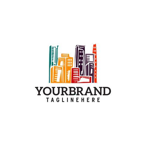 Design de modelo de cidade cidade logotipo