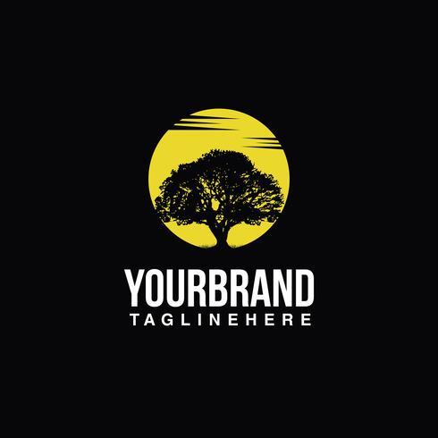 Baum Logo Sonne
