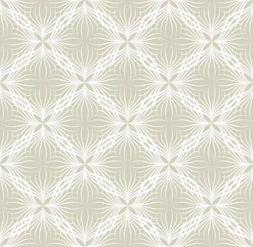 Abstract seamless pattern Floral oriental geometric line ornament vector