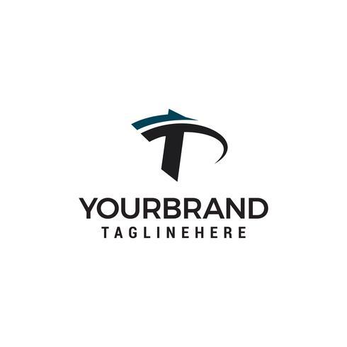 Letter T logo design template vector