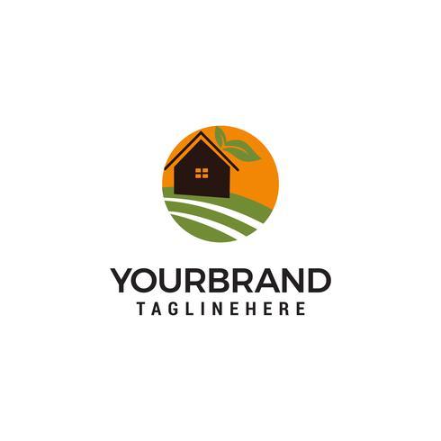 farm House Logo Design Template vector