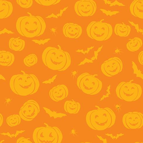 Happy Halloween seamless pattern. Holiday party background with