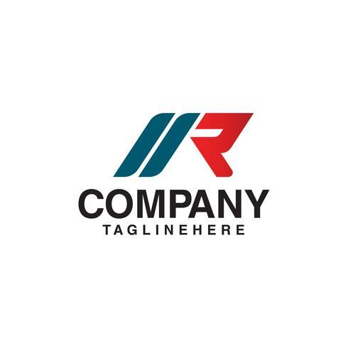 Modelo de carta R Logo Design Concept vetor