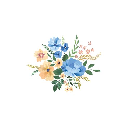Floral frame pattern. Flower bouquet background. Greeting card d vector