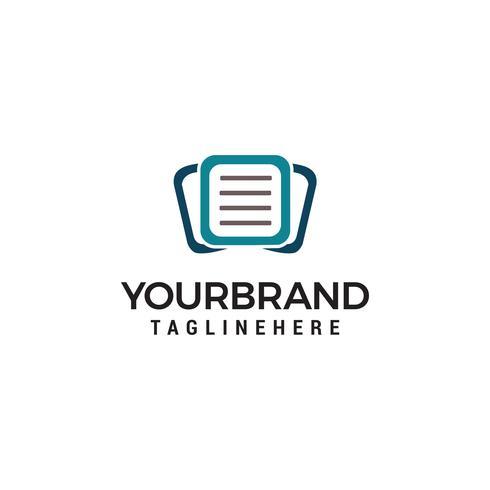 Icona per i servizi di gestione dei documenti aziendali Logo template vettoriale
