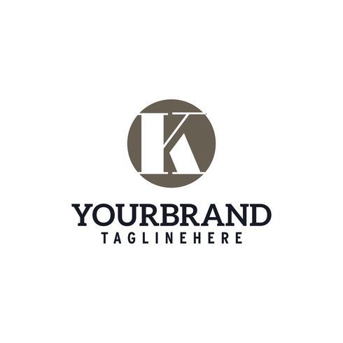 letter K cirkel logo vector concept