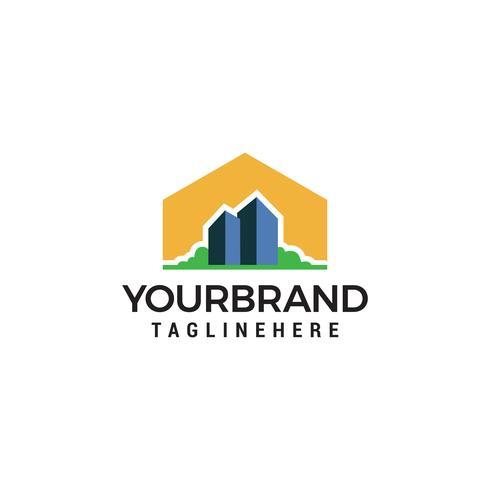 Costruire la città Logo Design Template vettore