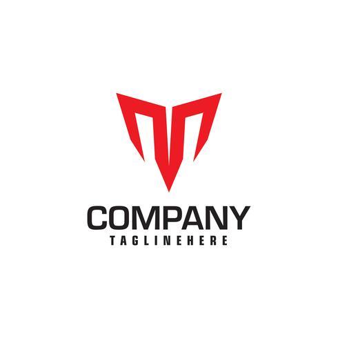 Logo astratto lettera M. fuoco veloce velocità in movimento icona di energia veloce