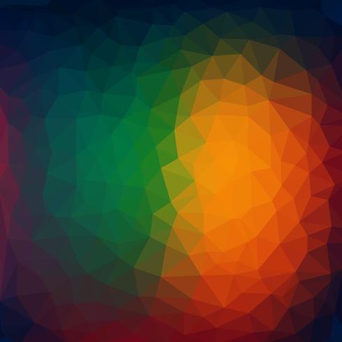Abstrait - formes géométriques colorées, vec polygonale
