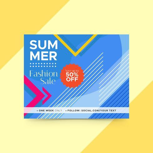 Geometrische zomer folder sjabloon