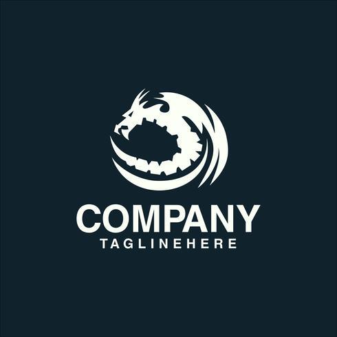 Modelo de conceito de logotipo de dragão.
