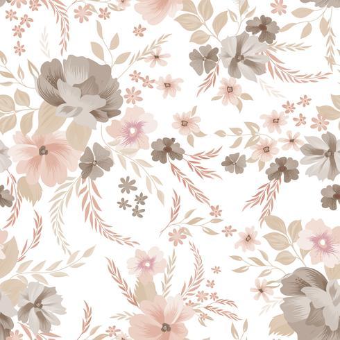 Floral pattern sans soudure. Fond de fleurs. Jardin d'ornement vecteur