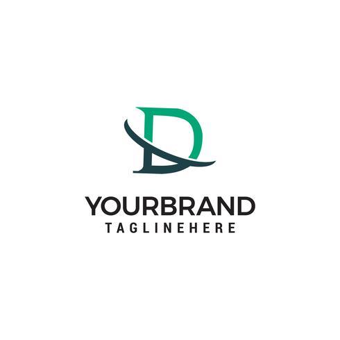 Letter D logo pictogram ontwerp sjabloon elementen vector