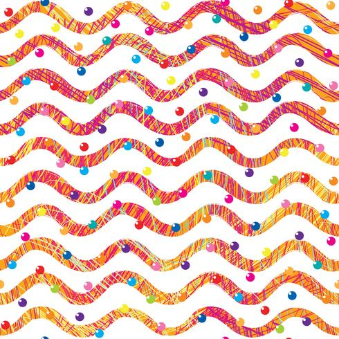 Abstract wave seamless pattern. Stylish geometric background. Wavy line ornamental wallpaper. vector