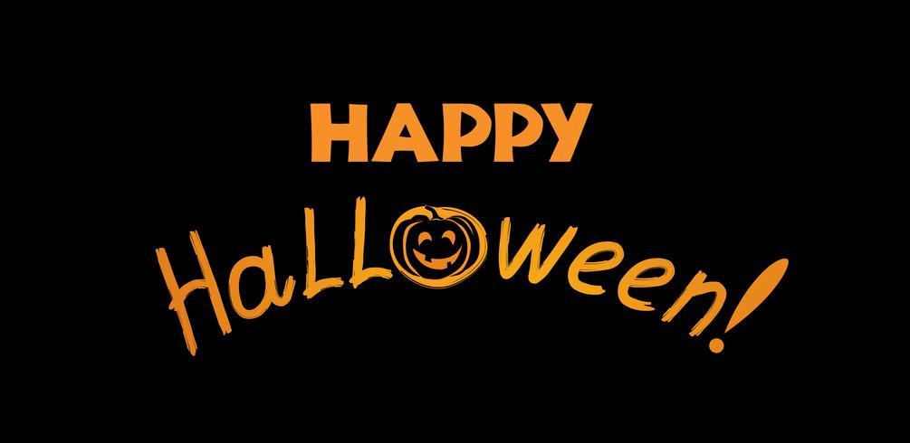Tarjeta de felicitación de halloween Fondo de vacaciones con letras yp vector