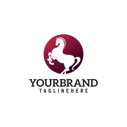 Horse logo in circle design.