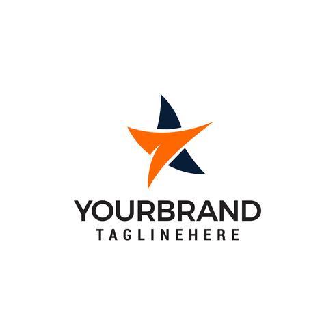 Stern beweglichen Symbol Logo Vektor Template-Design