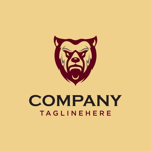 Vintage beer gezicht mascotte embleem symbolen. Kan voor T-shirtsdruk, etiketten, kentekens, stickers, logotypes vectorillustratie worden gebruikt.