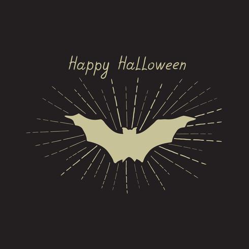 Biglietto di auguri di Halloween. Sfondo vacanza con scritte e b vettore