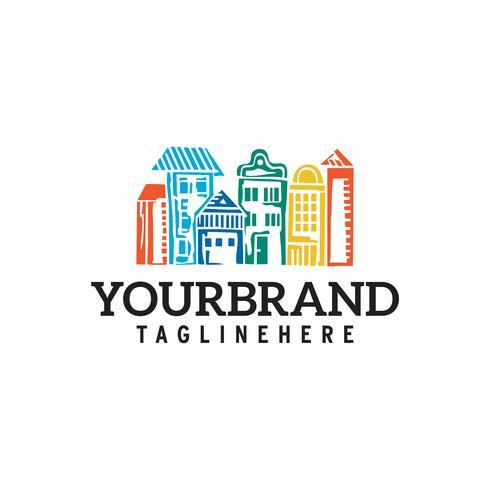 City Town Logo Template Design vector