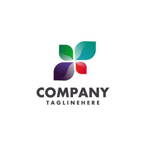 concept de vecteur logo feuille