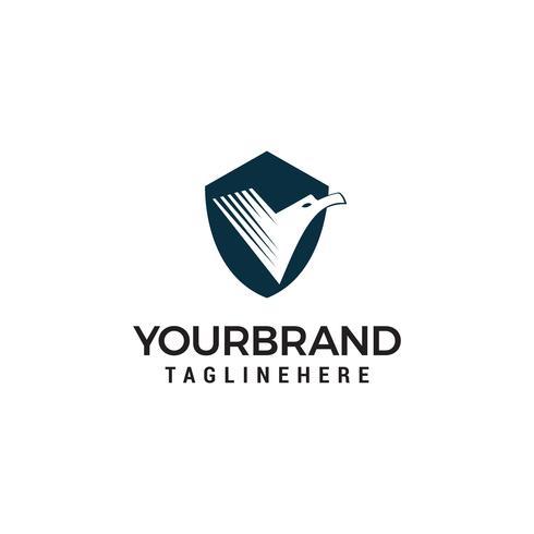 Plantilla de diseño de logotipo Bird Shield vector
