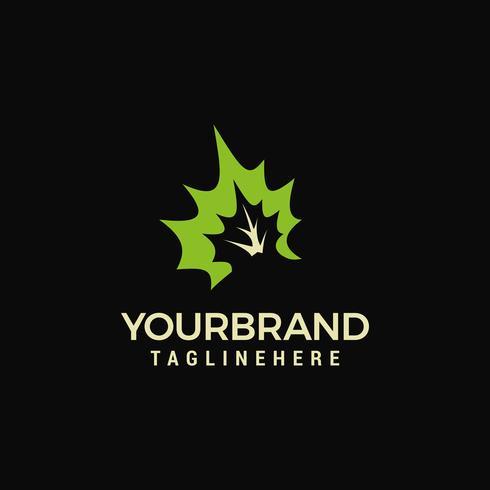 Logotipo de la naturaleza - hojas verdes frescas Plantilla de diseño de logotipo