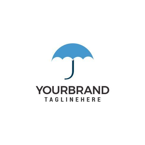 paraplu Logo sjabloonontwerp vector