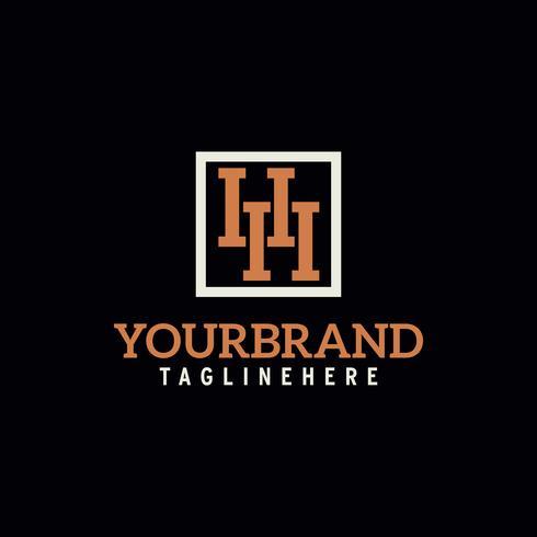 logotipo de letra H vector creativo