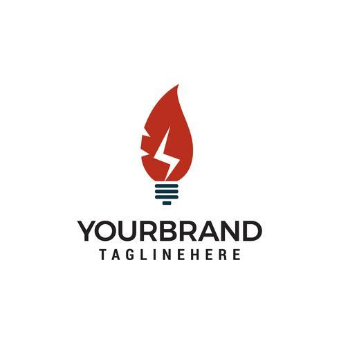 Ökostrom Energie Energie Logo Design Element