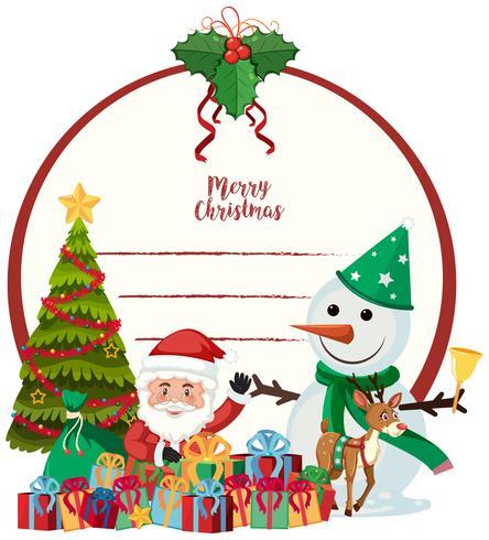 Un modèle de carte de joyeux Noël vecteur