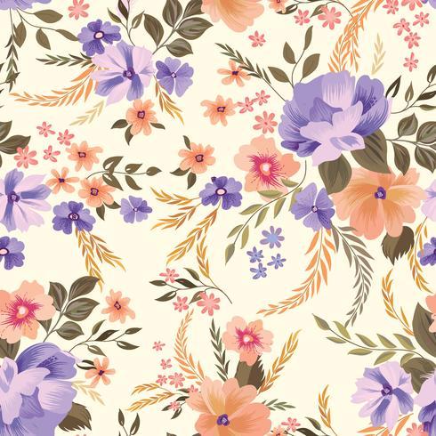 Motivo floreale senza soluzione di continuità. Sfondo di fiori Giardino ornamentale vettore