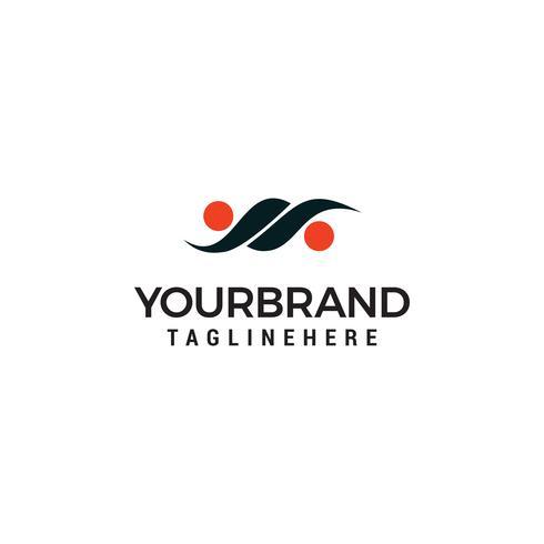 Gemeinschaftsleute Logo-Schablonenvektor