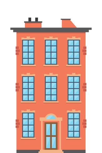 Dwelling house. Classical town architecture vector