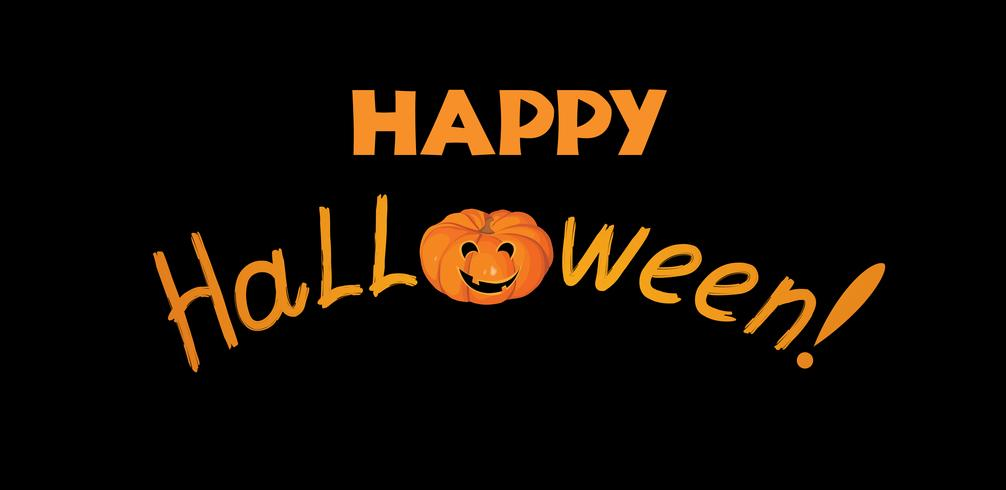 Happy halloween greeting card. Holiday background with lettering