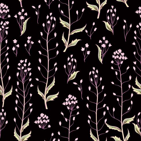 Floral seamless pattern. Flower background. Flourish wallpaper with flowers. vector