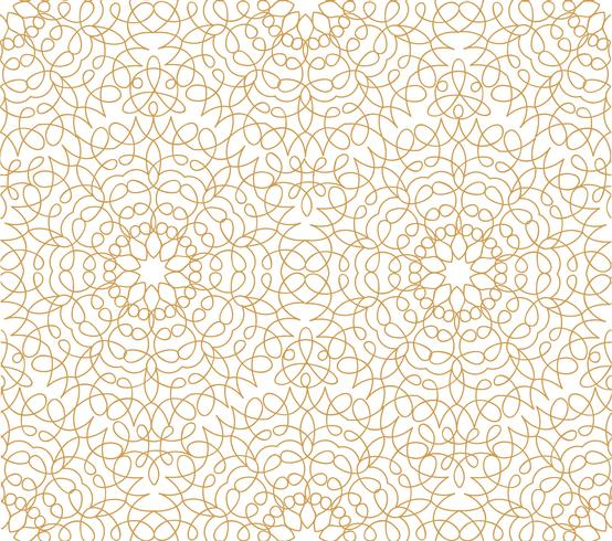Linha floral abstrata oriental padrão de telha. Ornamento árabe vetor